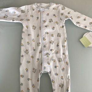 MAGNOLIA BABY NWT 6m footed outfit Pima cotton